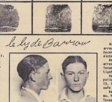 Clyde Barrow Wanted Sticker