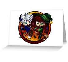 Trick or Treat Hiccup and Jack! Greeting Card