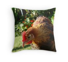 Fabulous chickens! Throw Pillow