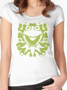 It's Not Easy Being Inked (green) Women's Fitted Scoop T-Shirt