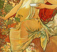 Alphonse Mucha - Autumn Sticker