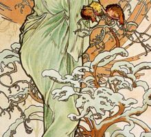 Alphonse Mucha - Winter Sticker