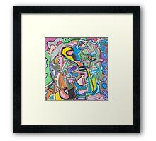 Geometric Circles Framed Print