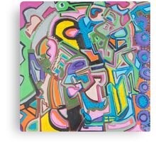 Geometric Circles Canvas Print