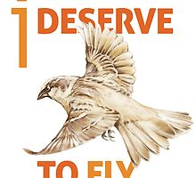 I Deserve to Fly by Tony Schaufelberger