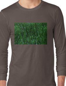Irish Green Water Droplets Long Sleeve T-Shirt