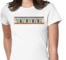 Lotus Frieze Womens Fitted T-Shirt