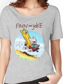Finn And Jake Adventure Time Women's Relaxed Fit T-Shirt