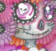 Flowers and Skulls Sticker