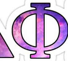 Dphie Delta Phi Epsilon Galaxy Sticker