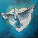 Heart Fully Enlarged - Holy Spirit No 2 by Kayleen West