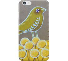 Canary with yellow flowers iPhone Case/Skin
