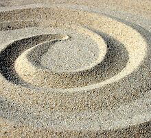 Circles in the sand by Nigel Butfield