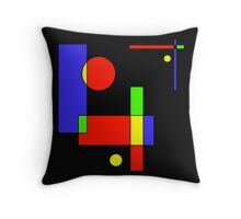 Color Blocks Primary Throw Pillow