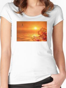 Tropical Gold Women's Fitted Scoop T-Shirt