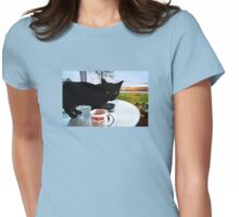Oh, sure. Blame me! Womens Fitted T-Shirt