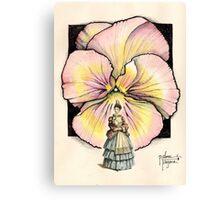 GARDEN PANSY Canvas Print