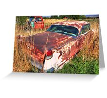 Old car - Cadillac Greeting Card