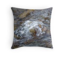 Rushing By Throw Pillow