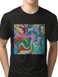 Loving Pink Bird Tri-blend T-Shirt