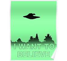 I WANT TO BELIEVE - X Files Poster