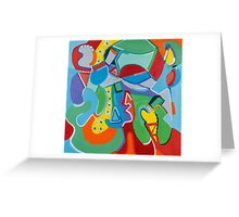 Green Beans Love Color and Form Greeting Card