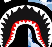 bape shark black blue Sticker