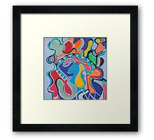 Colorful Swirls Framed Print