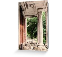 Front Portico Babcock Building Greeting Card