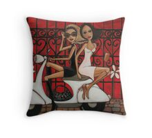 Scooting the Breeze Throw Pillow
