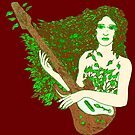 The Dryad's Wooden Axe by redqueenself