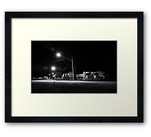 Sleeping Trucks Framed Print