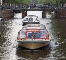 Amsterdam canal boat Sticker