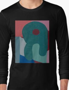Cubic Shapes and Color Long Sleeve T-Shirt