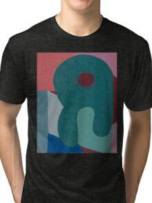 Cubic Shapes and Color Tri-blend T-Shirt