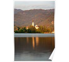 Sunrise across Lake Bled Poster