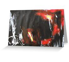 big black, white, red Greeting Card