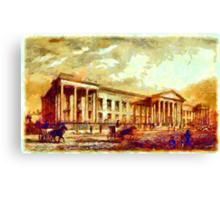 Beautiful Britain - The New Post Office, London 1830 Canvas Print