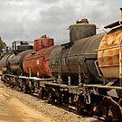 Train Tanker In OERM Yard by Larry Costales