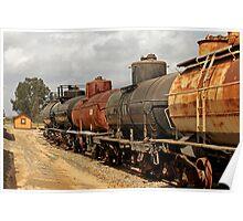 Train Tanker In OERM Yard Poster