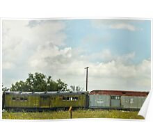 Mail Train In Open Field Poster