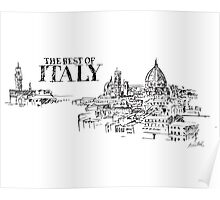 City panorama of Florence, Italy Poster