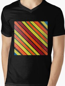 Striped Confession Mens V-Neck T-Shirt