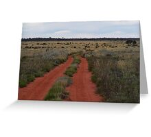 Red Dirt track Greeting Card