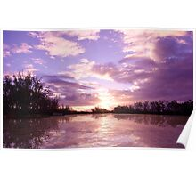 River Murray Sunset  Poster