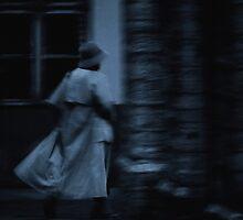 Hurrying woman by Bluesrose