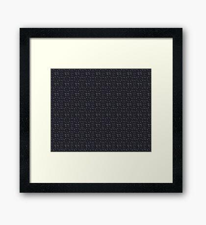 Metallica Series/Carbonite Framed Print