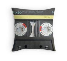 Vintage Audio Cassette Throw Pillow