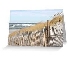 Late autumn beach day Greeting Card