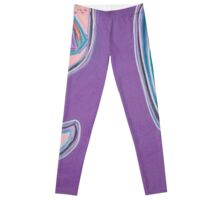 Purple Figure with Flowers Leggings